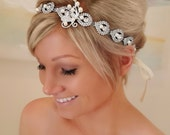 Wedding headpiece, headband, KAMIEL, Rhinestone Headband, Wedding Headband, Bridal Headband, Bridal Headpiece, Rhinestone