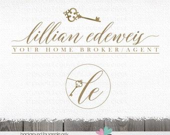 logo design real estate logo key logo home logo realty Logo logos for House Photography real estate agent logo premade logo broker logo