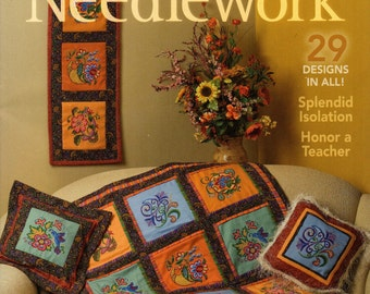 Cross Stitch Magazine At Home with Needlework 2008 November Issue, DIY Craft Magazine, New and Mint Condition