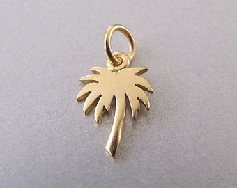 Palm Tree Charm - Gold Palm Tree - Silver Palm Tree - Palm Tree Jewelry