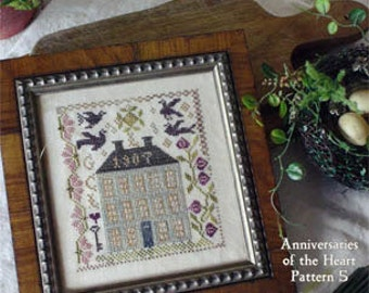 Farm House : Blackbird Designs counted cross stitch pattern embroidery