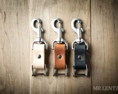 Leather Keychain, Key Fob, Leather Keyring, Leather Wad Keychain, Leather Key Holder 090