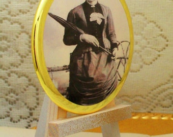 Historical Victorian Era African American Woman #3, Makeup Mirror, Large Palm Mirror, Cosmetic Mirrors, Handheld Mirrors and Magnets