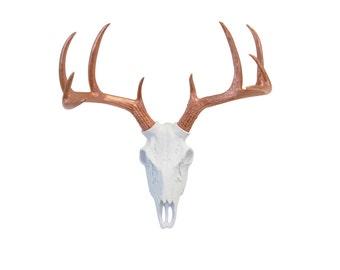 Items Similar To Deer Head Print Silhouette Faux Dark