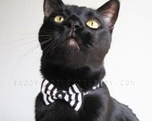 SALE!  Cat Bow Tie - Nightmare Before Halloween - Halloween Cat Accessory