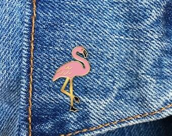 Flamingo Enamel Pin, Hard Enamel Pin, Pink Flamingo, Jewelry, Art, Gift (PIN56)