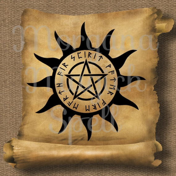 Sun Pentacle Royalty Free Clipart