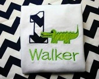 Gator Birthday Shirt- baby boy, birthday boy, alligator birthday, gators, first birthday