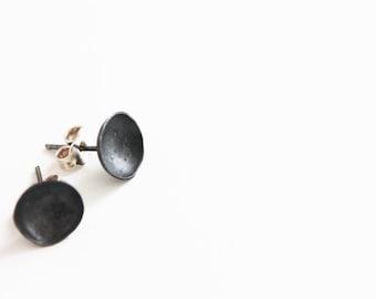 Minimal silver studs, Black studs, Black silver studs, Minimal black silver stud, minimal black studs, Black silver studs, Contemporary stud