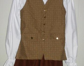 Boy's Colonial Renaissance Fairytale - 3 piece costume   size 8
