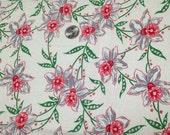 Jonquil Flowers on Vintage Feedsack like Fabric Piece