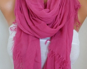 Pink Cotton Soft Scarf,Teacher Gift,Summer Scarf,Pareo,Shawl,Oversized Scarf, Cowl Scarf Gift Ideas for Her Women Fashion Accessories