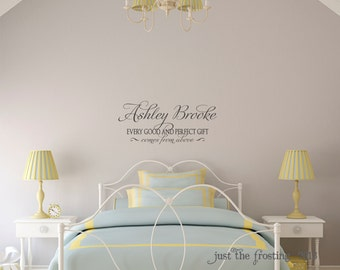 James 1:17 Personalized Childrens Decor Monogram Vinyl Wall Lettering Art Decal - Nursery Wall Decal