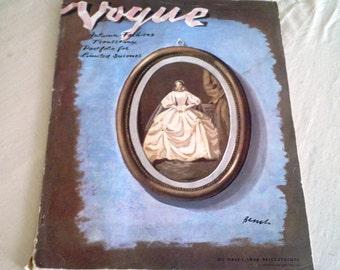 1930's Vogue Magazine October 1 1938 Vogue Magazine Complete and Original