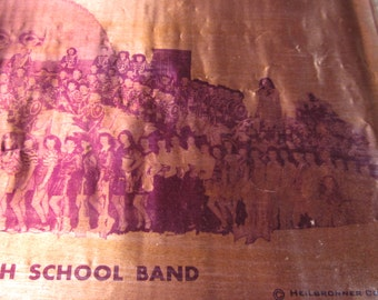 Vintage 1950's Copper Photogravure of Butte High Scool Band by Heilbronner