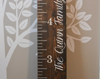 CUSTOM MADE: Vintage Oversized Wooden Growth Chart Ruler - Nursery Decor - Hand Painted