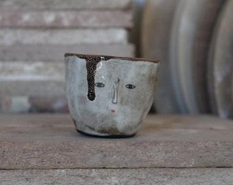 Primitive wonky espresso bowl - spice container