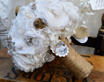 Mom's Dated Wedding Dress .... Now Daughter's Beautiful Bouquet