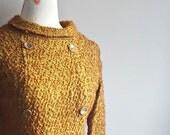 60s Dress   Vintage Winter Shift   Boucle Texture   Jackie O Dress   Mod Style   Winter Dress