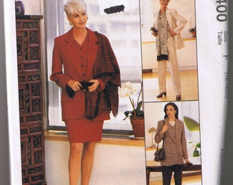 McCall's 8400 Misses Lined Jacket, Lined Vest, Skirt, Pants, and Scarf - Sizes 16, 18, 20 - UNCUT