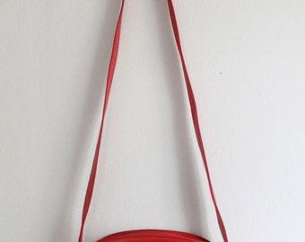 Vintage 1980's Red Cross Body Tassel Purse