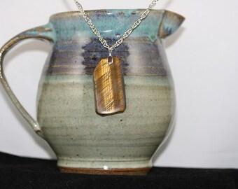 Free-form Golden Tiger Eye Necklace - Item 1767