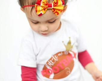 USC { Katie } bow. Red, White and Yellow Gold  Headband.  Football headband, usc baby headband, Trojan headband