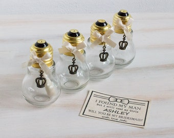 Bridesmaid Gift Will You Be My Bridesmaid Message in a Bottle Bridesmaid Proposal Maid Of Honour Bridal Shower Bridesmaid Ask Custom Invite