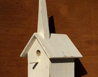 Whitewashed & Weathered Decorative Birdhouse