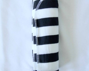 Black & White Stripe Swaddle, Lightweight blanket, newborn preemie, unisex baby boy baby girl