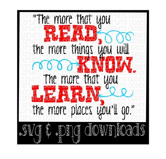 dr seuss   read - know - learn cutting file - svg  u0026 png files  cricut