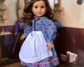 Blue Prairie Dress Set for Kirsten or 18 inch doll