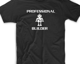 Funny T Shirt Tee Professional Robot Builder Gift Geek Nerd Robotics Engineer T Shirt Tee  Gift Funny Cute Geek Nerd Engineering