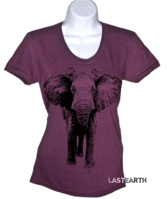 Elephant t shirt womens elephant t shirt gifts for by for Elephant t shirt women s