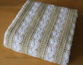 "Afghan Blanket Crochet PATTERN Wheels & Stripes 36"" x 52""/(91 x 132) cm - PDF 3652"