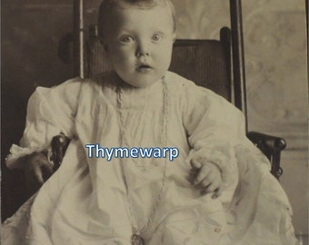 Vintage Victorian Baby Photograph Cabinet Card
