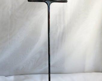Rustic Steel Necklace Display, Industrial Style, Reclaimed Steel, Craft Fair Display