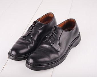 Vintage Alden Black Leather Oxfords, Mens 7 1/2 / ITEM156