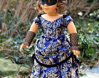 Victorian Masquerade Gown for American Girl 18 inch doll 1880s