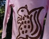 Squirrel long sleeved onesie