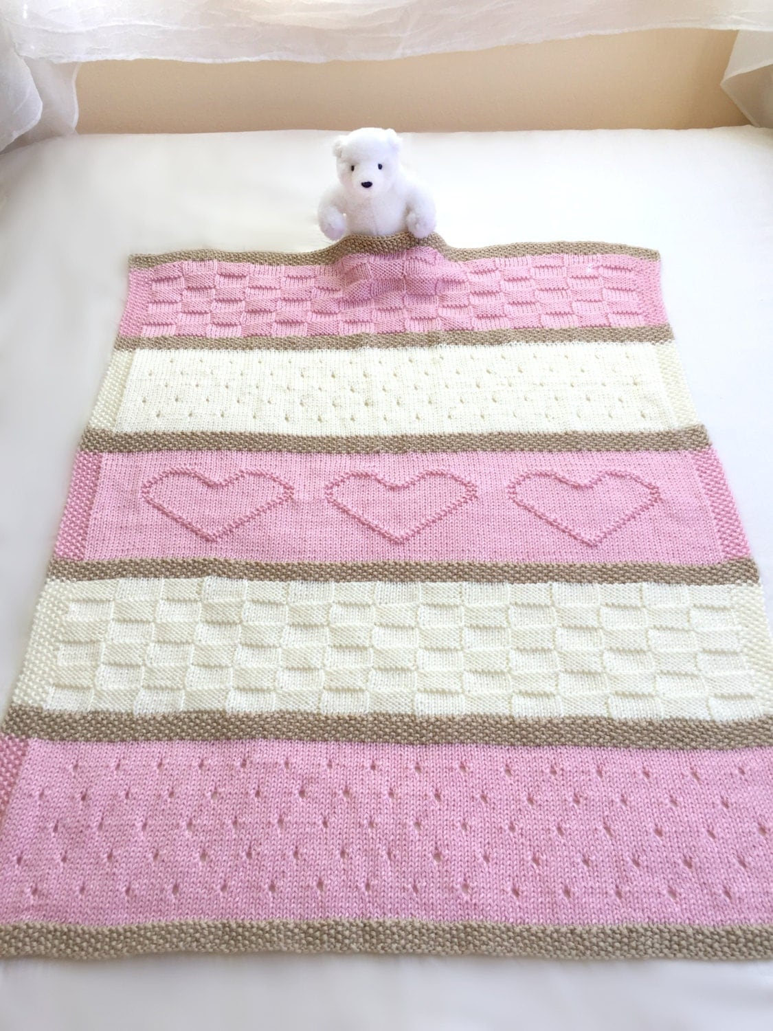 Baby Blanket Knitting Pattern Easy : Baby Blanket Pattern Knit Baby Blanket Pattern Heart Baby