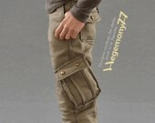 1/6th scale Dexter Morgan inspired cargo pants / trousers for: Hot Toys TTM 19 size regular collectible action figure bodies