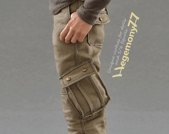 1/6th scale Dexter Morgan inspired cargo pants / trousers for: regular size collectible action figure bodies