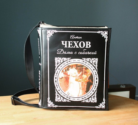 Satchel with a cover based on the Russian author, Chekov.