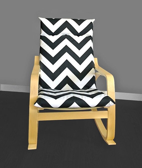 zebra ikea poang chair cover black white zig zag poang cover. Black Bedroom Furniture Sets. Home Design Ideas