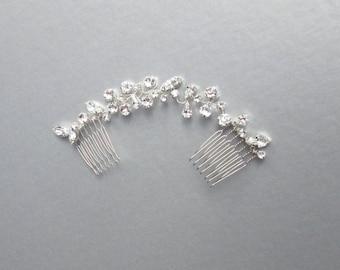 Swarovski crystal hair vine, Bridal comb, Wedding hair Swarovski hair vine, Dainty crystal hair vine, Bridal headpiece, Swarovski hair comb