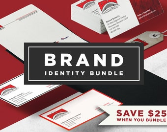 Brand Identity Bundle: Logo, Brand Guide, Business Card and Stationary Custom Made to Order