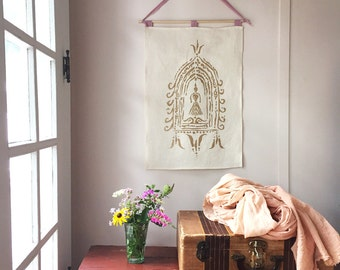 Divine Feminine Altar Wall Hanging. Gifts Under 50. Textile Art. Gifts for Her. Bedroom Decor. Inspirational Wall Art. Feminine Wall Art.