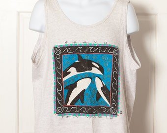 Vintage 80s 90s SHAMU SEA WORLD tank
