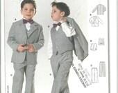 Burda Pattern 9781 Boys Suit Jacket Vest Pants (3-9) UNCUT
